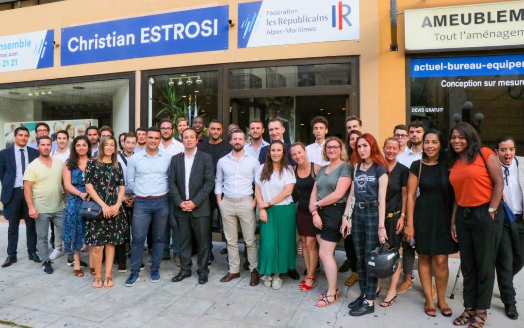 Rencontre entre les Jeunes avec Estrosi et Anthony Borré