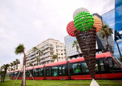 Art et Tram - Station Ferber - « Fruitée » de Joana Vasconcelos