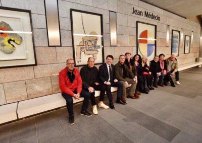 Art et Tram - Station Jean Médecin - Exposition permanente de la Galerie Sapone