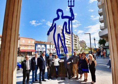 Art et Tram - Station Carras - « Poséidon » de Sacha Sosno